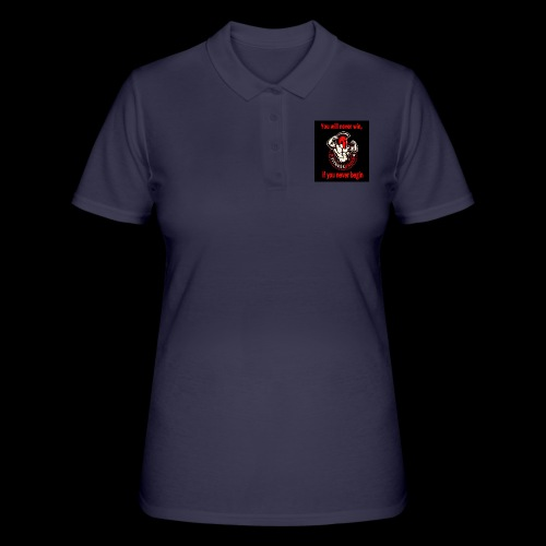 You will never win - Frauen Polo Shirt