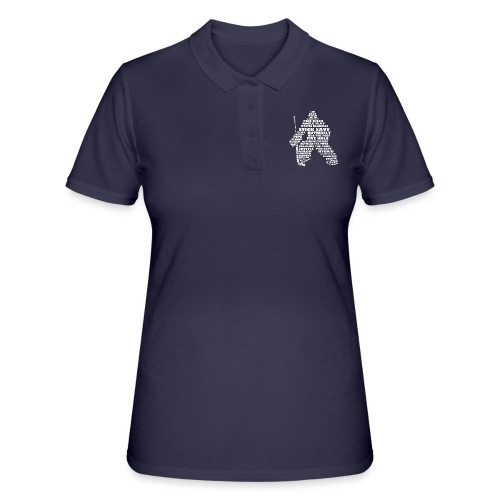 Language of Hockey (Goalie Version, white print) - Women's Polo Shirt
