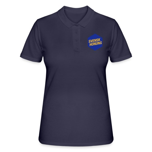 Svensk honung Hexagon Blå/Gul - Women's Polo Shirt