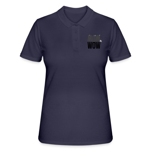 MOM WOW dunkel - Frauen Polo Shirt
