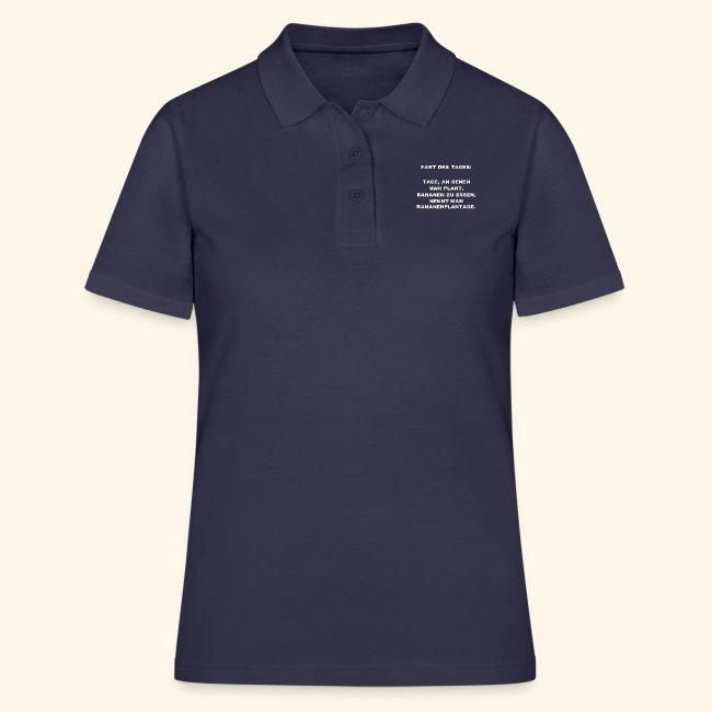 Lustiger Spruch Fakt Des Tages Humor Geschenk Frauen Polo Shirt