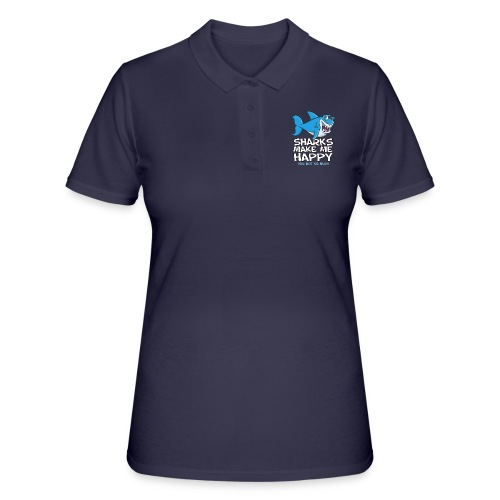 Sharks make me happy - Haifisch - Frauen Polo Shirt