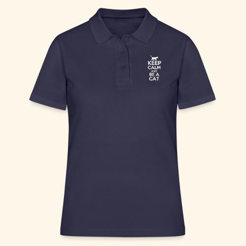 Keep Calm Katzen T-Shirt Englisch - Frauen Polo Shirt