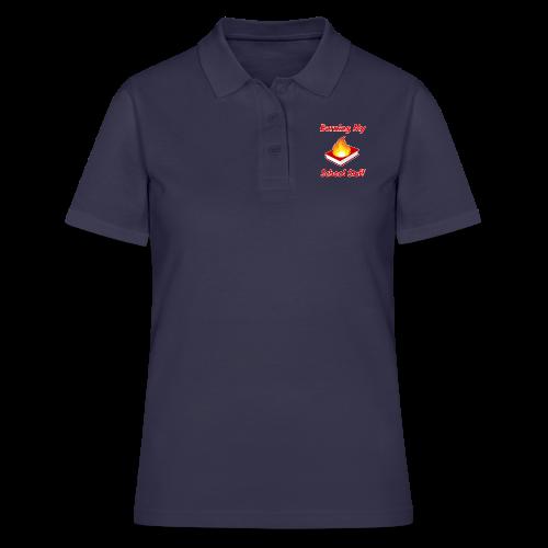 Burning My School Stuff Merchandise! - Women's Polo Shirt