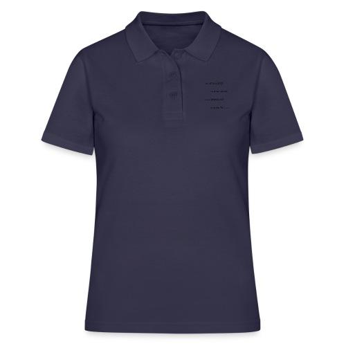 alles schläft - Frauen Polo Shirt