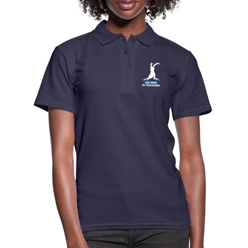 Logo Les Amis de Pralo grand blanc - Polo Femme