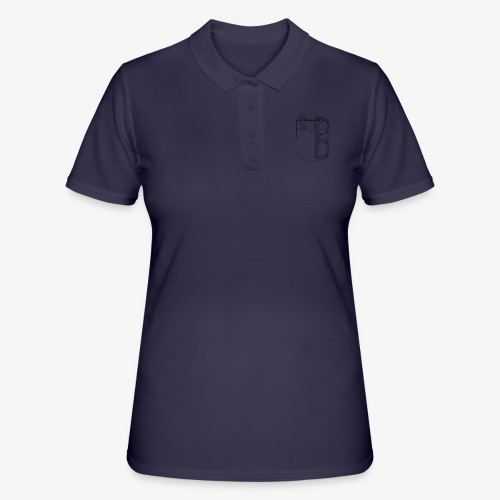Poche a stylo - Frauen Polo Shirt