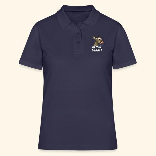 Esel Is Mir Egaal! (weisser Text) - Women's Polo Shirt