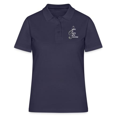Musik Mathematik Lehrer Schule Spruch Geschenk - Frauen Polo Shirt