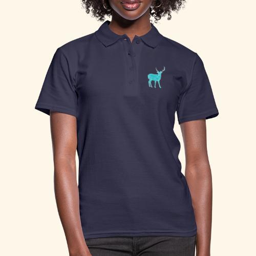 Blue Reindeer - Women's Polo Shirt