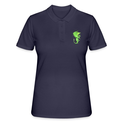 Drache gruen - Frauen Polo Shirt