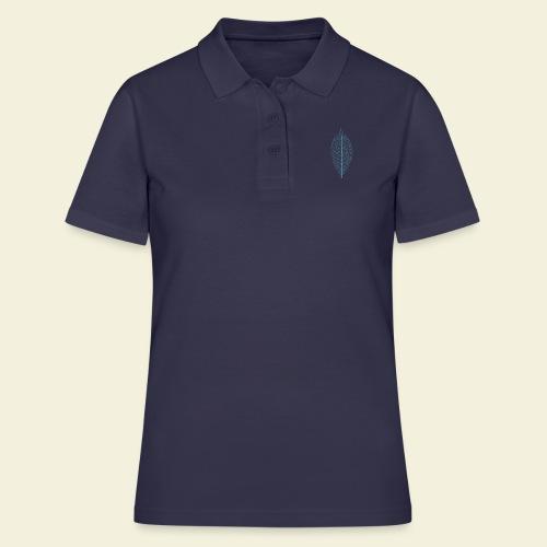 Feuille bleu Squelette - Women's Polo Shirt