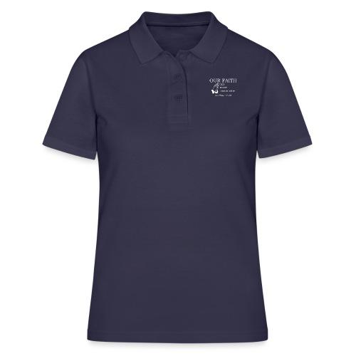 'OUR FAITH' t-shirt (white) - Women's Polo Shirt