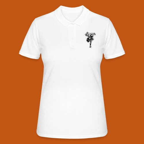 Skater / Skateboarder 03_schwarz - Frauen Polo Shirt