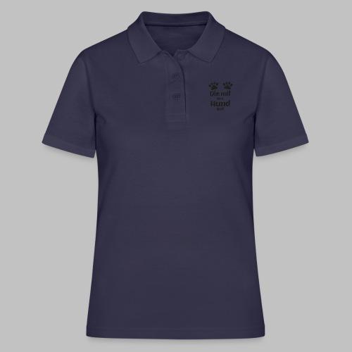 Die mit dem Hund läuft - Pfote - Black Edition V2 - Frauen Polo Shirt