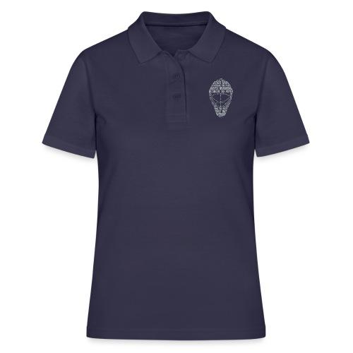 Hockey Goalie Mask (light colour design) - Women's Polo Shirt