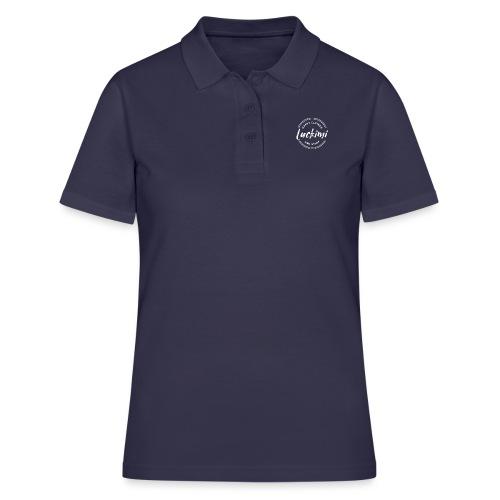 Luckimi logo white small circle on sleeve or back - Women's Polo Shirt