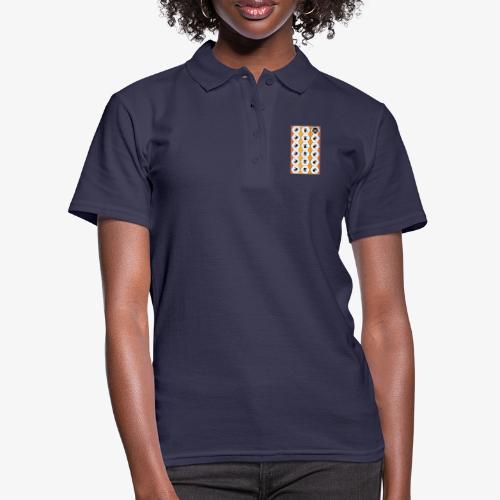 |K·CLOTHES| HEXAGON ESSENCE ORANGES & WHITE - Women's Polo Shirt