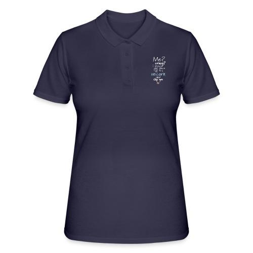 Crazy Unicorn - Dark - Women's Polo Shirt