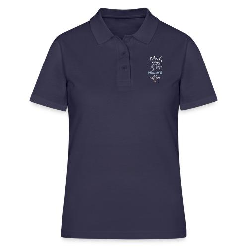 Crazy Unicorn - Dark - Women's Polo Shirt
