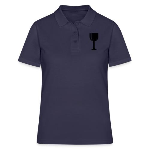 Weinglas - Frauen Polo Shirt