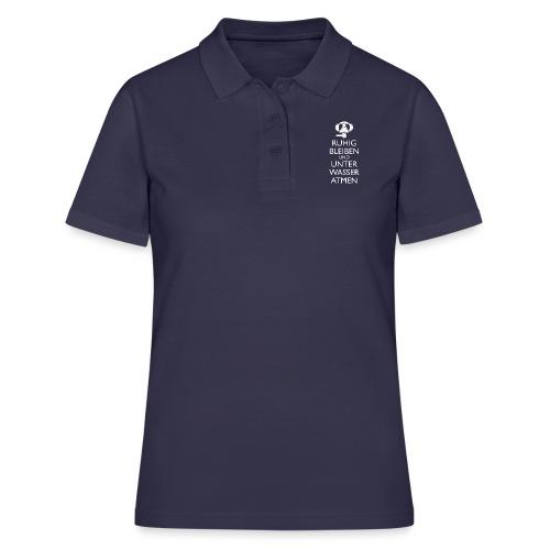 Ruhig bleiben und unter Wasser atmen - Frauen Polo Shirt