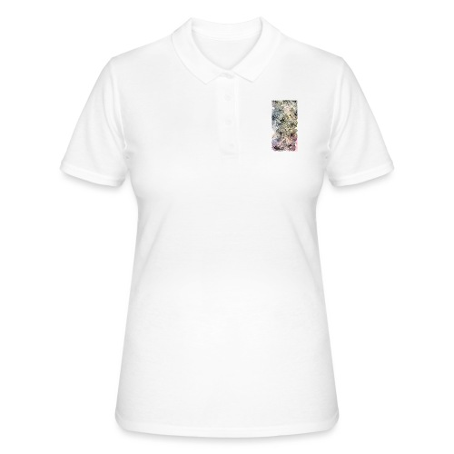 Doodle fiori, inchiostro nero e acquerello - Women's Polo Shirt