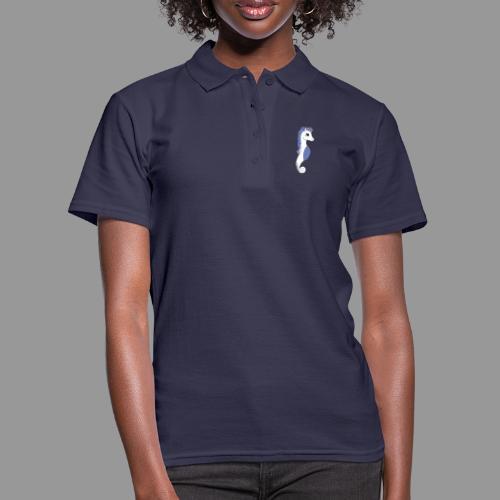 Seepferdeinhorn weiss blau - Frauen Polo Shirt