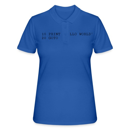 HELLO WORLD - Commodore64 BASIC - Women's Polo Shirt
