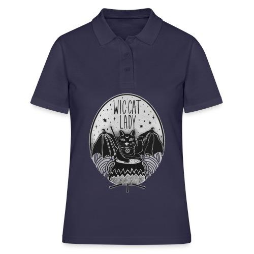 Wic-cat lady halloween shirt - Women's Polo Shirt