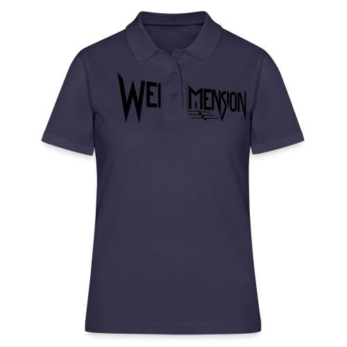 wendimension logo white - Women's Polo Shirt