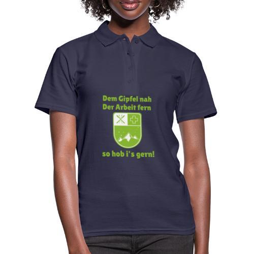 Dem Gipfel nah, der Arbeit fern. - Frauen Polo Shirt