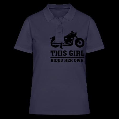 This Girl rides her own - Custom bike - Women's Polo Shirt