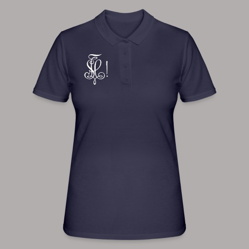 Zirkel, weiss (vorne) Zirkel, weiss (hinten) - Frauen Polo Shirt