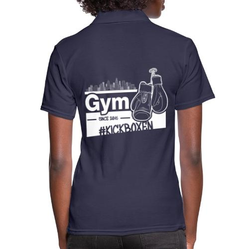 Gym Druckfarbe weiss - Frauen Polo Shirt