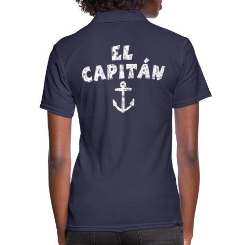 El Capitán Anker Kapitän Segel Segeln - Frauen Polo Shirt