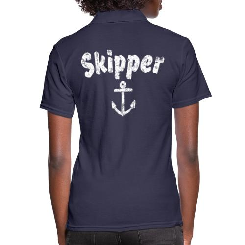Skipper Anker (Vintage Weiß) Segler Boot & Segeln - Frauen Polo Shirt