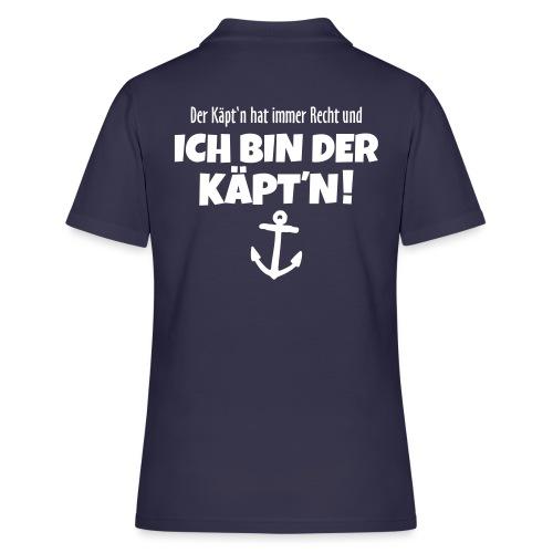 Der Käpt'n hat immer Recht Kapitän Segel - Frauen Polo Shirt