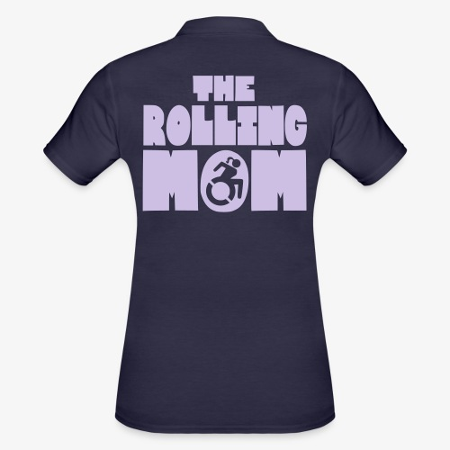 De rollende moeder in een rolstoel - Women's Polo Shirt
