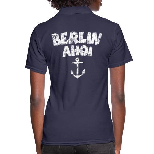 Berlin Ahoi Anker (Vintage/Weiß) - Frauen Polo Shirt
