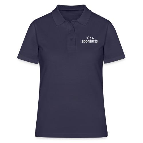 spontacts_Logo_weiss - Frauen Polo Shirt