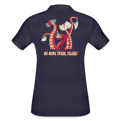 Octopus : No More trash,please! - Women's Polo Shirt