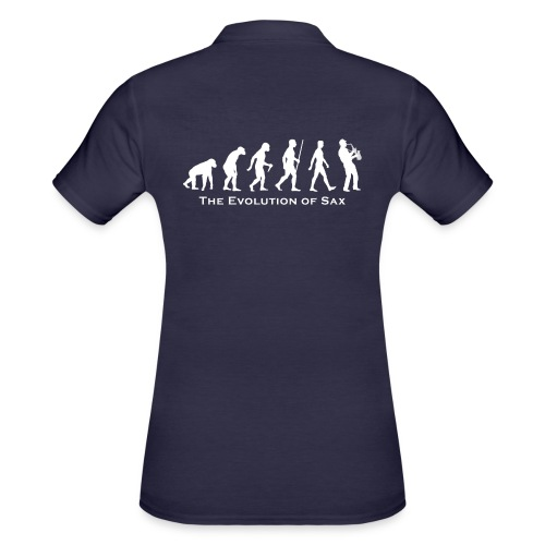 The Evolution Of Sax - Camiseta polo mujer