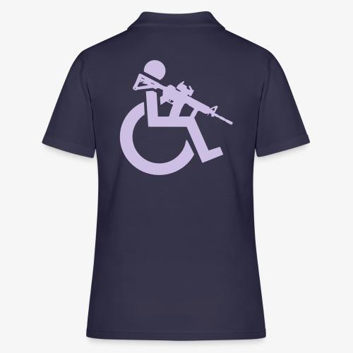 Gewapende rolstoel gebruiker met geweer, wapen - Women's Polo Shirt