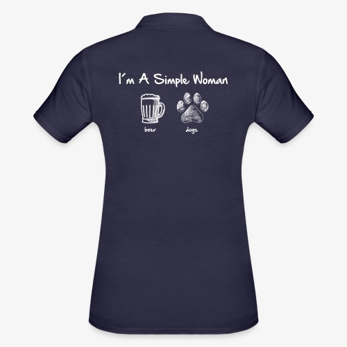 simple woman beer white - Frauen Polo Shirt