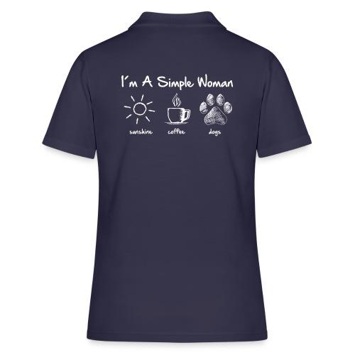 simple woman dog white - Frauen Polo Shirt