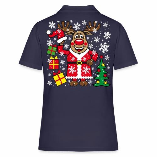 76 Hirsch Rudolph Weihnachtsbaum Geschenke - Frauen Polo Shirt