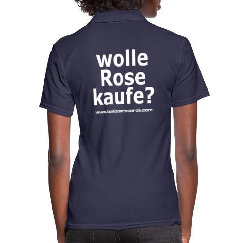 Wolle Rose Kaufe (weisse Schrift) - Frauen Polo Shirt