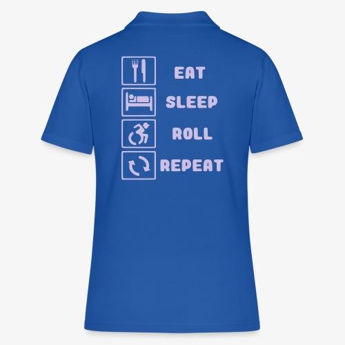 >Eten, slapen, rollen met rolstoel en herhalen 001 - Women's Polo Shirt