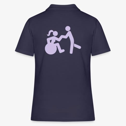 Afbeelding van vrouw in rolstoel die danst met man - Women's Polo Shirt